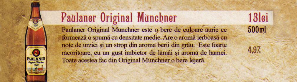 Bere Paulaner Original Munchner