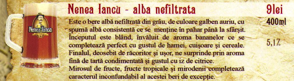 Berea Nenea Iancu Alba Nefiltrata