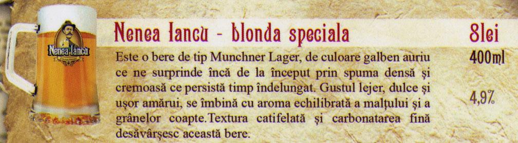 Berea Nenea  Iancu Blonda Speciala