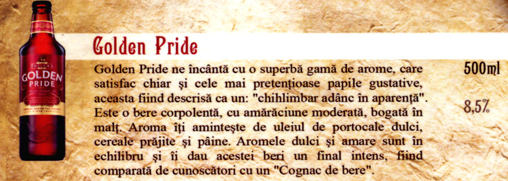 Bere Golden Pride