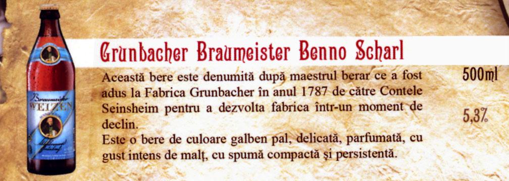 Bere Grunbacher Braumeister Benno  Scharl