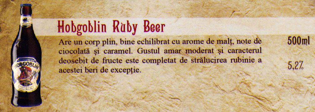 Bere Hobgoblin Ruby Beer