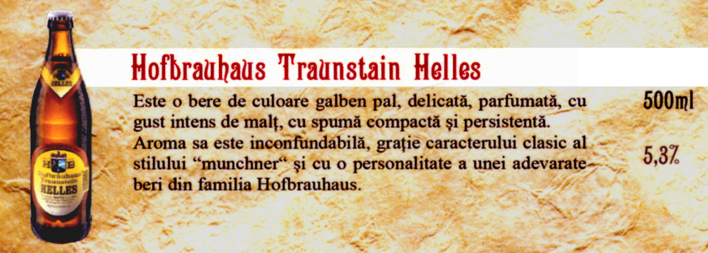 Bere Hofbrauhaus Traunstain Helles