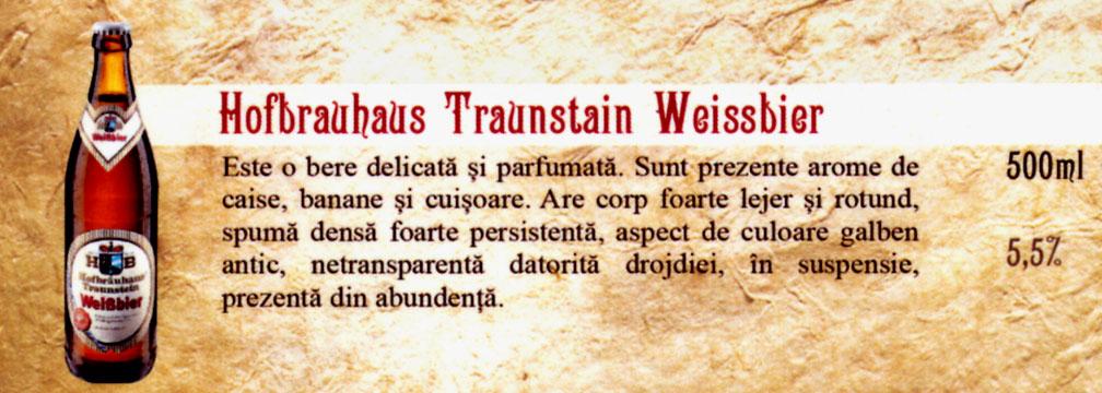 Bere Hofbrauhaus Traunstain Weissbier