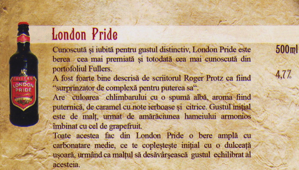 Bere London Pride