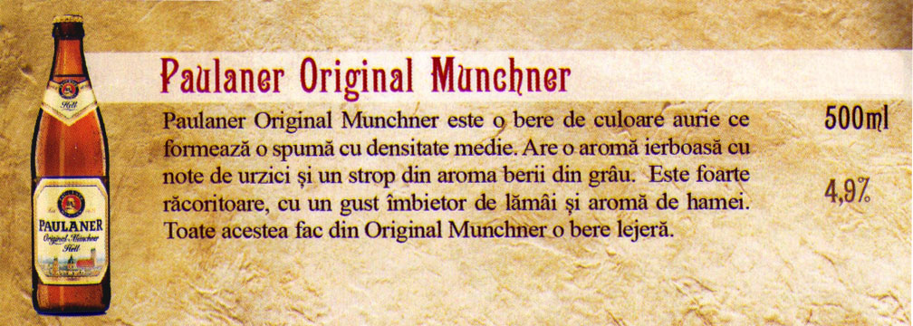 Paulaner Original Munchner