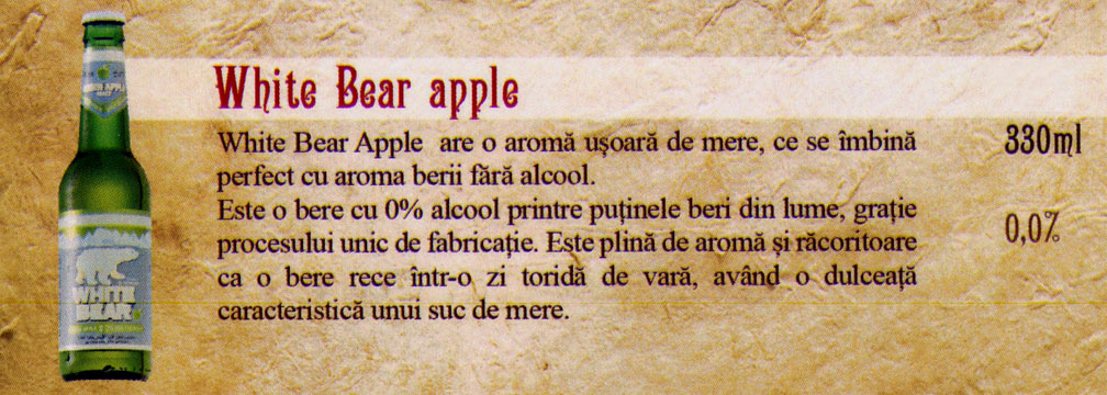 Bere White Bear Apple